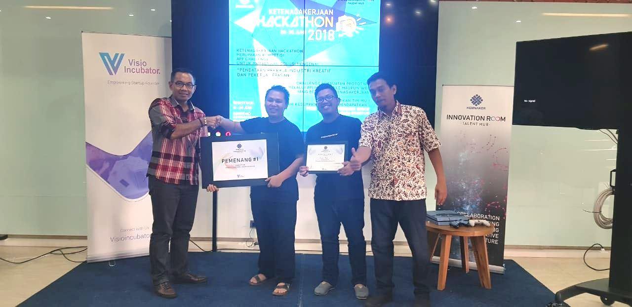 Tiga Tim Startup Rebut Juara Kompetisi Hackathon Ketenagakerjaan
