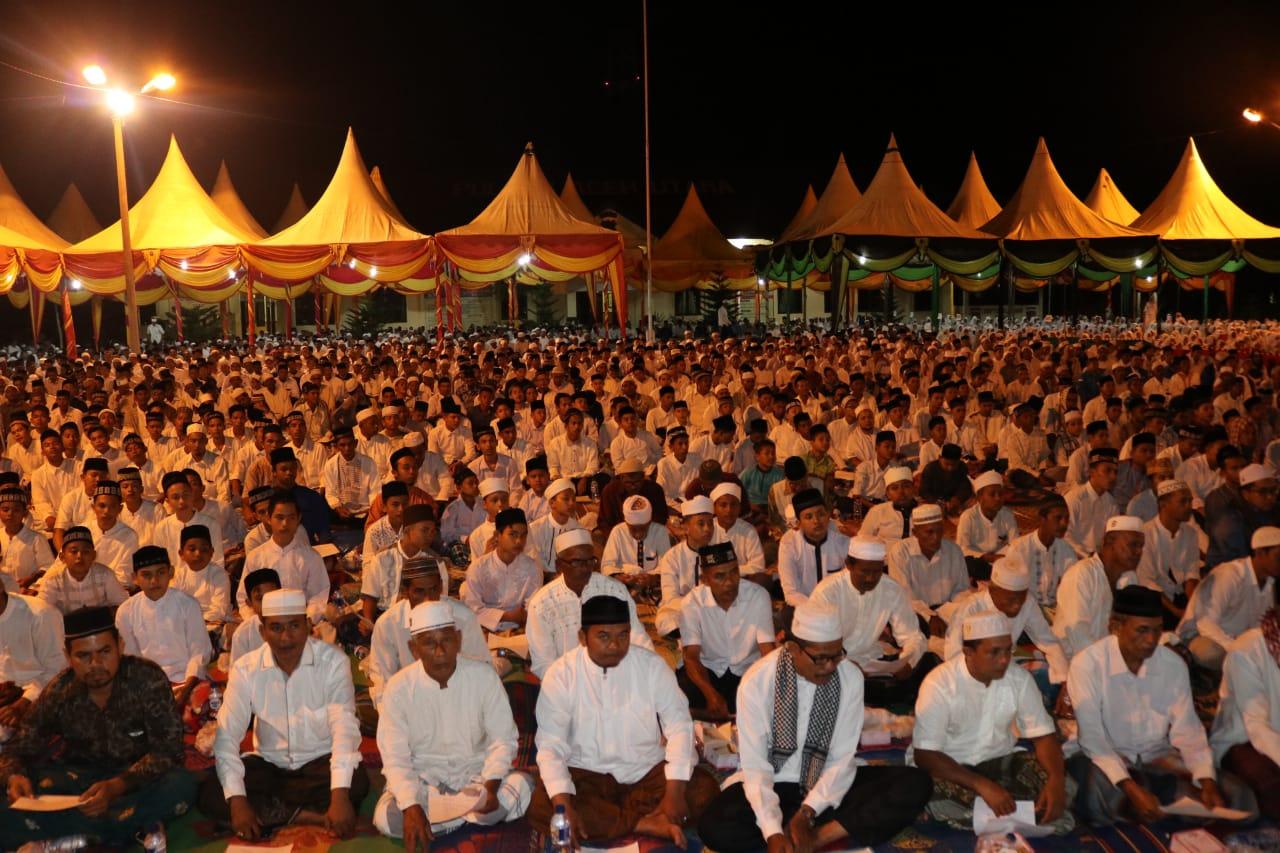 Ribuan Warga Aceh Utara Larut Dalam Zikir Akbar Hari Bhayangkara ke-72