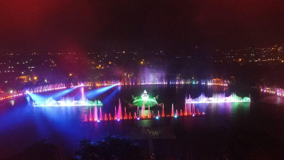 Jelang Kirab Obor Asian Games, Air Mancur Sri Baduga Mulai Berbenah