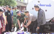 Kodim 0609 dan Polres Cimahi Kirimkan 25 Ribu Liter Air Bersih untuk Warga Cigugur