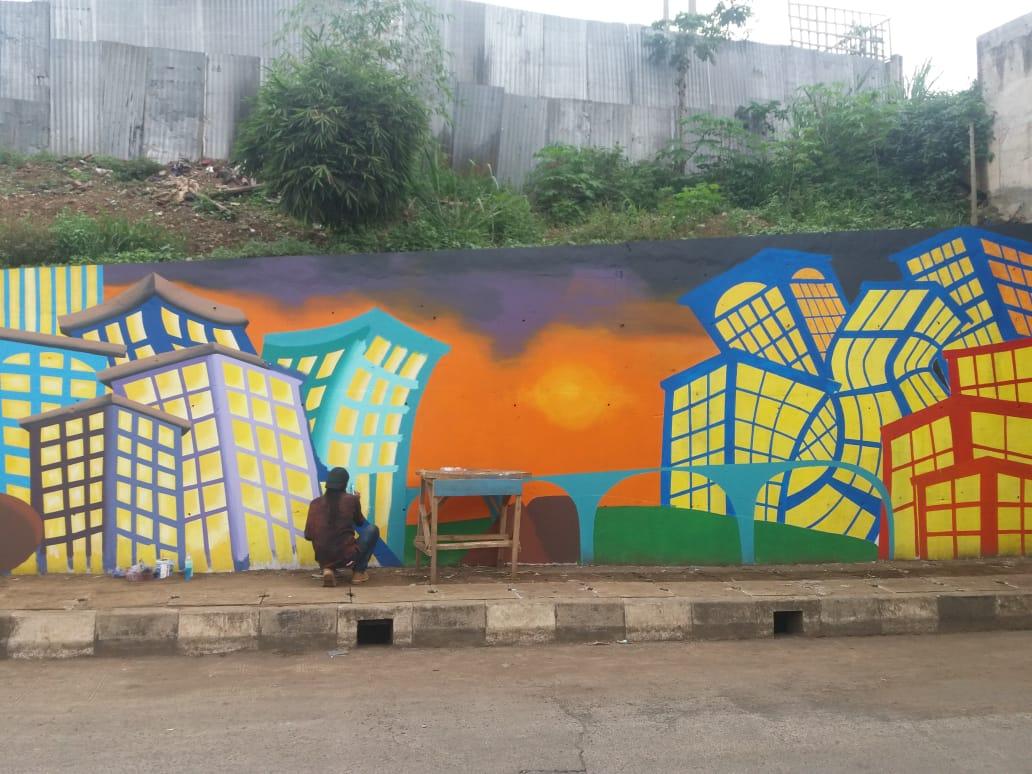 Bandung Barat Tata Underpass dan Alun-alun dengan Mural