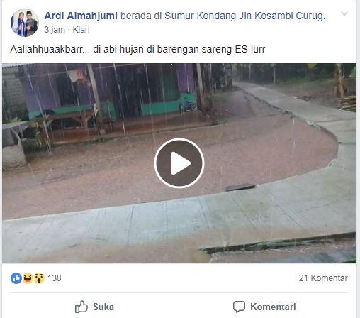 Fenomena Hujan Deras Disertai Es Mengguyur Karawang