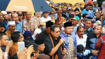 Ribuan Masyarakat Aceh Utara Sambut Hangat Kehadiran SBY