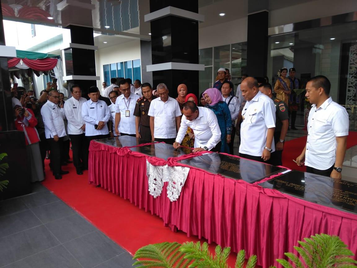 Gubernur Sumut Resmikan 4 Gedung di Tebing Tinggi