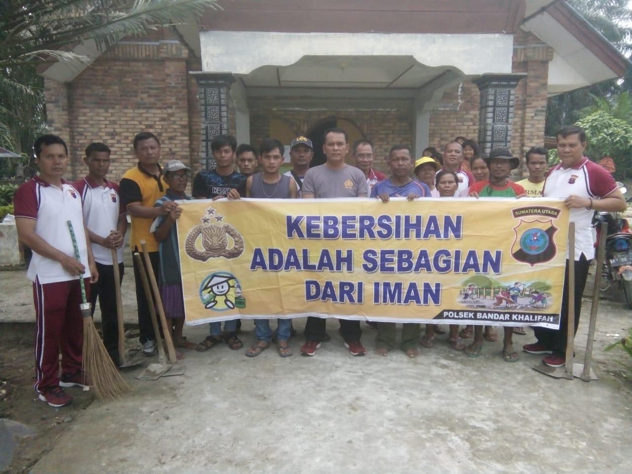 Polsek Bandar Khalifah Jumat Bersih Gereja Katolik Hutabagasan