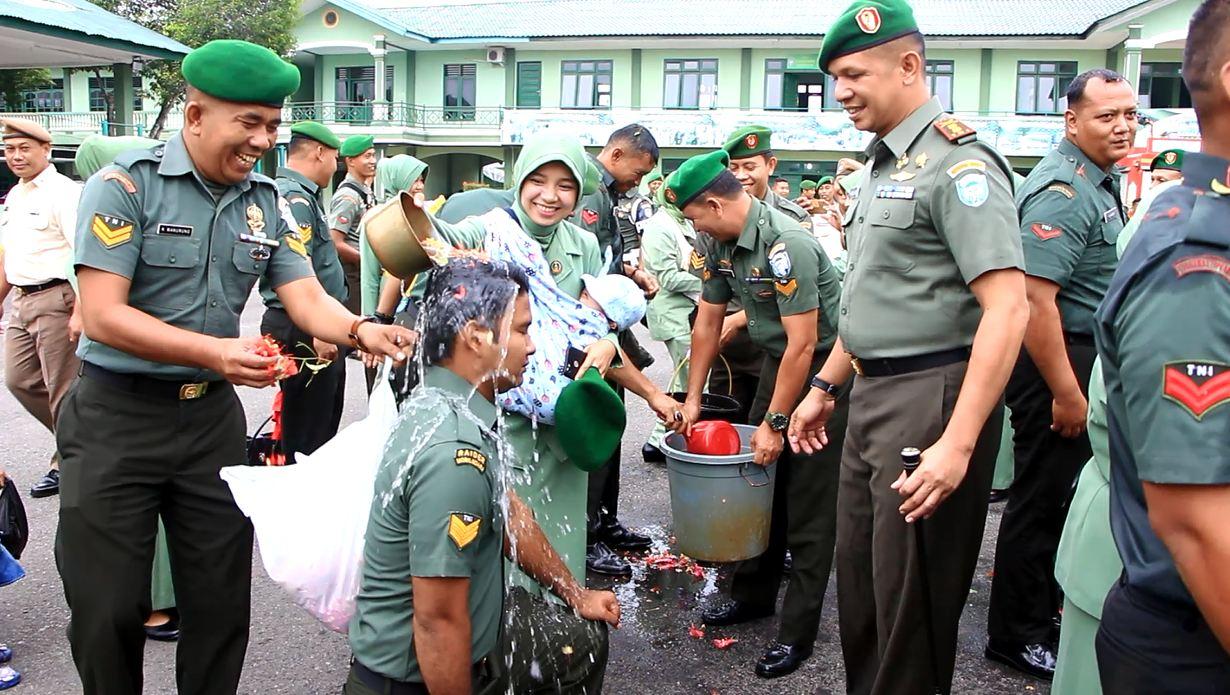 Puluhan Prajurit TNI Naik Pangkat, Ini Pesan Dandim 0104 Aceh Timur