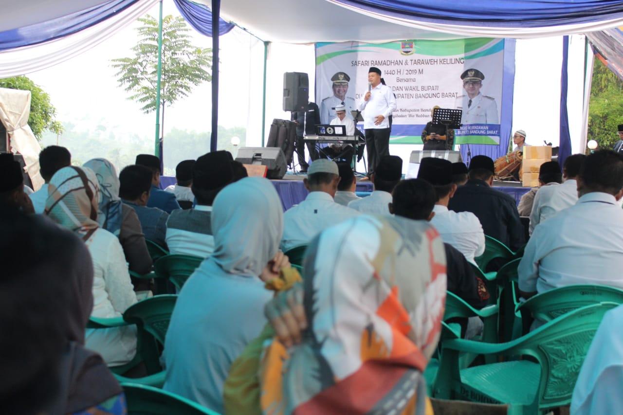 Safari Ramadhan dan Taraweh Keliling Bupati Bandung Barat Tingkatkan Silaturahmi