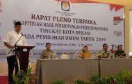 KPU Kota Bekasi Sukses Gelar Rekapitulasi Penghitungan Suara