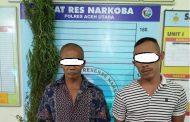 Polres Aceh Utara Ringkus Dua Pengedar Ganja