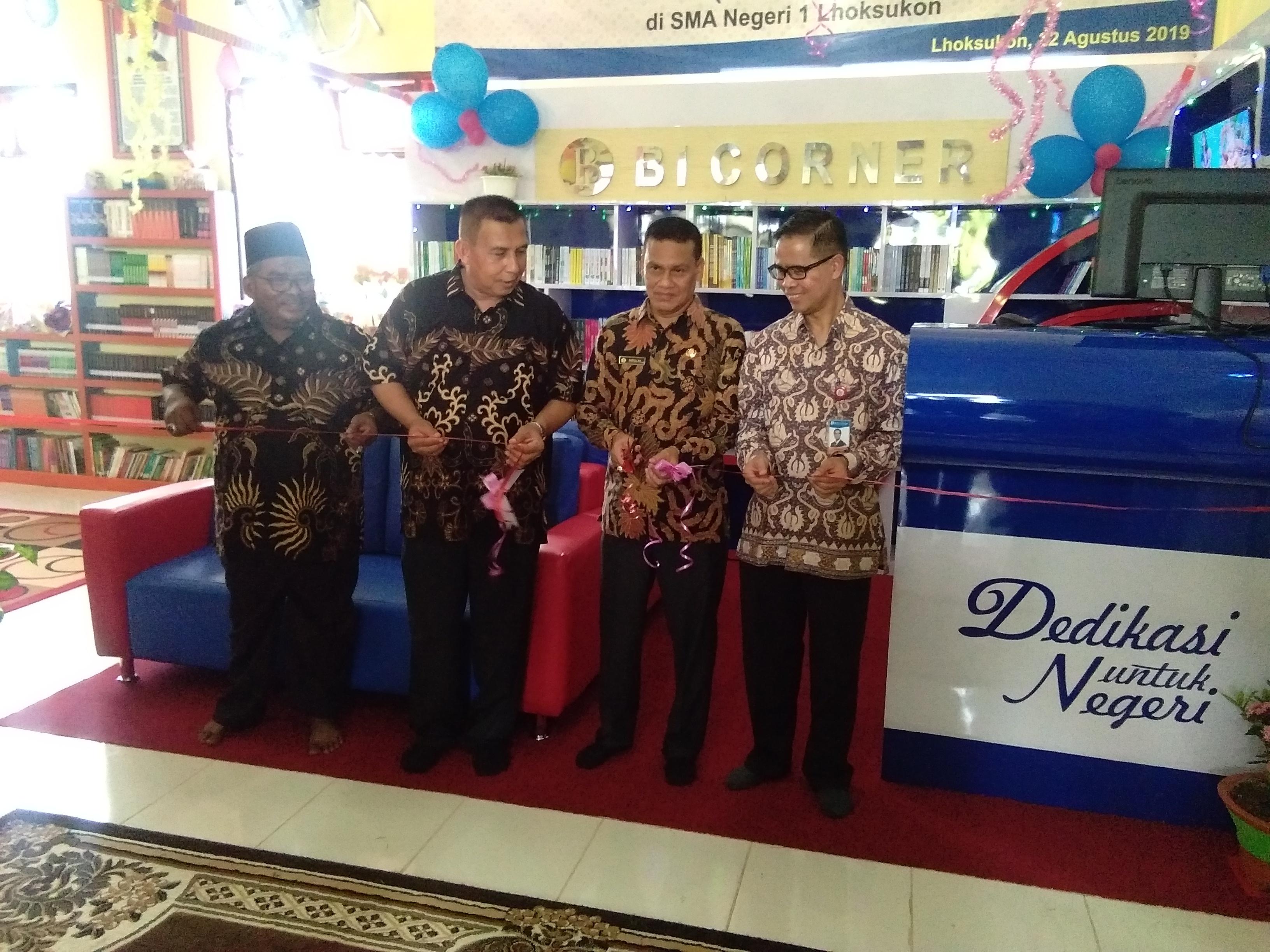 Bank Indonesia Buka BI Corner Perpustakaan SMAN I Lhoksukon