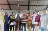 Bantuan Sembako dan Uang Tunai Terus Mengalir kepada Korban Kebakaran di Kuede Paya Bakong