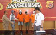Polisi Tangkap Tiga Tersangka Penjambret Uang di Kota Lhokseumawe
