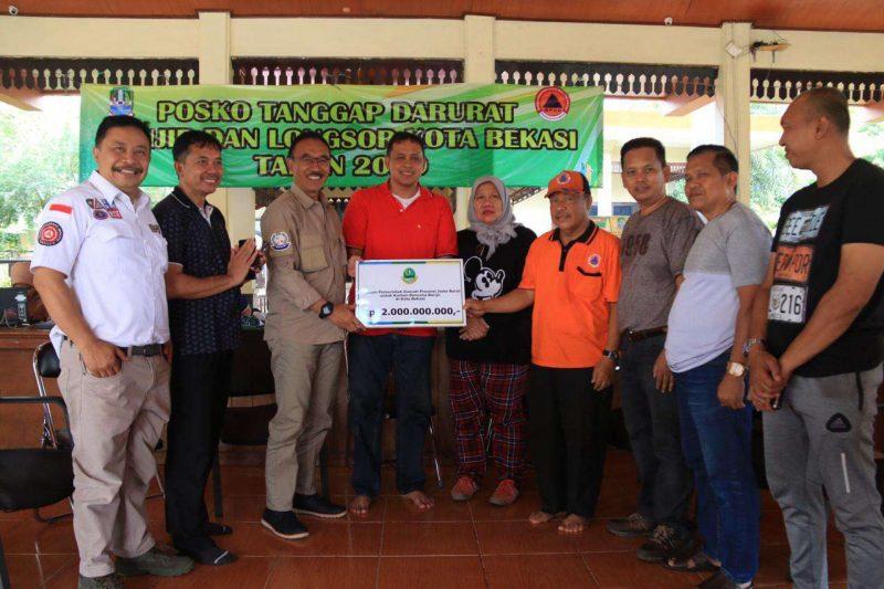 Pemprov Jabar Berikan Bantuan 2 Miliar Untuk Banjir Kota Bekasi