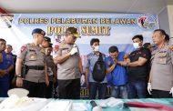 Polres Pelabuhan Belawan Gagalkan Peredaran Narkoba, Amankan Ribuan Gram Sabu