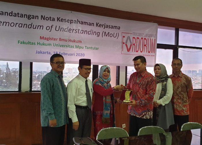 FORDORUM Kerjasama dengan Universitas Mpu Tantular untuk Pendidikan Lebih Bagus