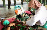 Kodim 0104/Aceh Timur Donor DarahAntisipasi Stok Darah Menipis