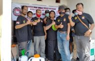 LSM WGAB Bhakti Sosial Penyemprotan Disifektan Cegah Virus Corona