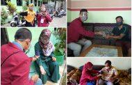 Mahasiswa PMM UMM Bagikan Masker Inovatif ke MI Wahid Hasyim