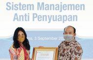 Peruri Terima Sertifikat Sistem Manajemen Anti Penyuapan ISO 37001:2016